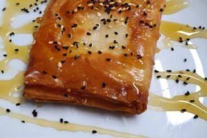 Feta Saganaki with Phyllo Pastry